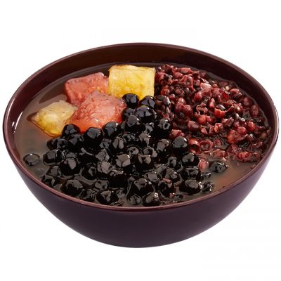 Q204 - Fruity Q wih Black Glutinous + Red Bean Soup